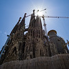 Basilica de la Sagrada Família has been under construction since 1882 and will continue through 2026, one year after the centennial of Antoni Gaudí's death. Barcelona, Spain.