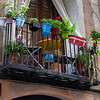A colorful balcony in el Born. Barcelona, Spain.