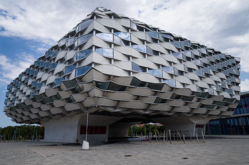 Originally built for Expo 2008, el Aragón Pavilion now sits abandoned. Zaragoza, Spain.