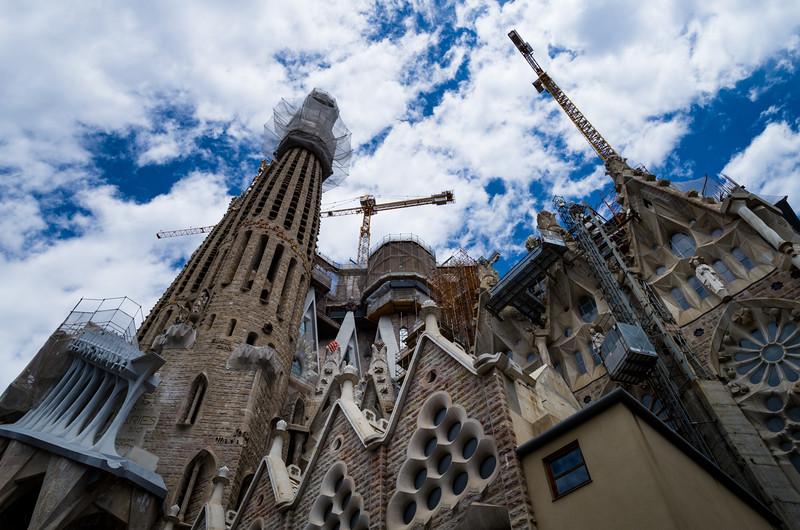 Basilica de la Sagrada Família. Barcelona, Spain.