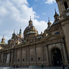 Construction of la Basilica de Nuestra Señora del Pilar began in 1681. Zaragoza, Spain.
