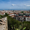 La vista from atop Parc Güell. Barcelona, Spain.