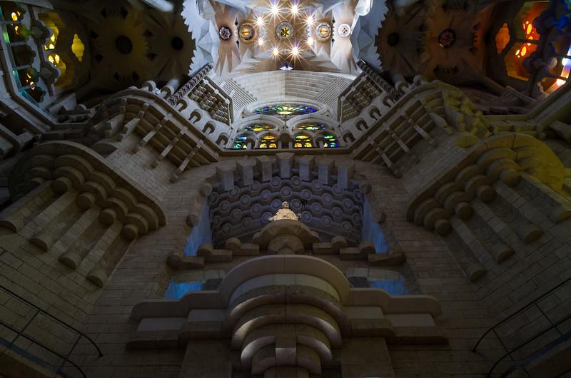 The East entrance of Basilica de la Sagrada Família. Barcelona, Spain.
