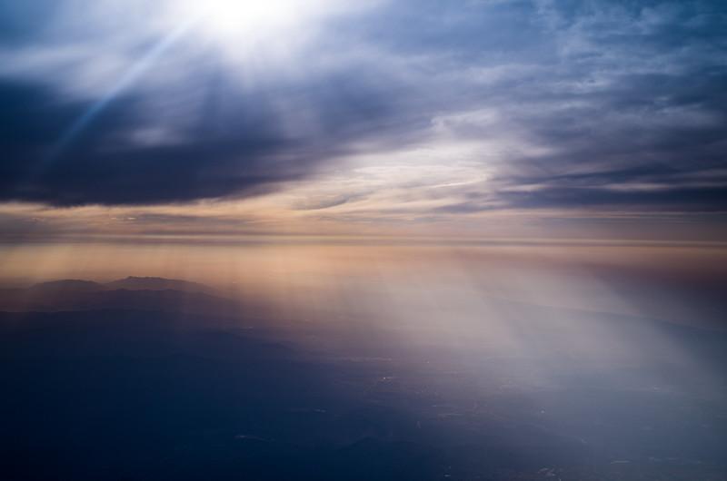 Daybreak above the Balearic Sea. Barcelona, Spain.