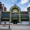 La estación de Bilbao-Concordi. Bilbao, Spain.