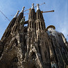 Conceived by arquitecto Antoni Gaudí, Basilica de la Sagrada Família is located in the heart of Eixample. Barcelona, Spain.