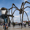 French artist Louise Bourgeois designed Maman to evoke the strength of her mother. The bronze casting outside el Museo Guggenheim is one of six and stands over nine meters tall. Bilbao, Spain.