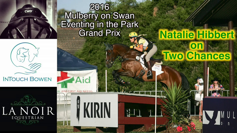 2016 Eventing in the Park G25 Nat Hibbert on Two Chances in the Grand Prix Class