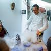 Chef Erauzkin demonstrates how he makes ice cream.