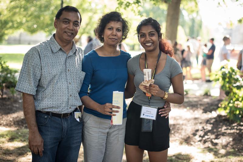 Chris Pathmanabhan and Parents.
