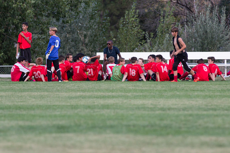 3-1 win vs Niwot 9/1/16. Josh on far right, #4