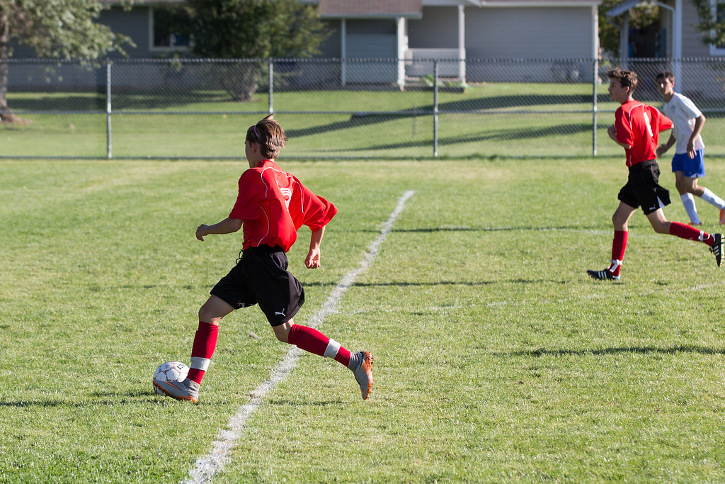 10-1 win vs Poudre 9/8/16. Josh about to score