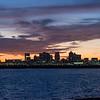 Boston after sunset on November 12, 2016.