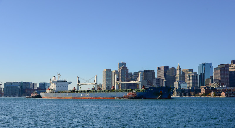 The Izmur inbound to Chelsea in Boston Harbor.