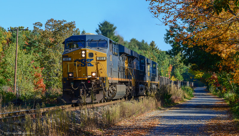 Portland to Selkirk train POSE on the Stonybrook Branch in Westford.
