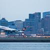 The evening flight from Boston to Frankfurt.