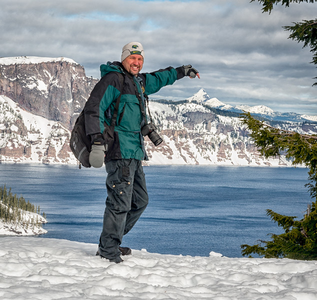 Steve climbs Mt Thielson