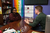 17111 Sarah Olsen, Petey Peterson in the LGBTQA Office 2-17-16