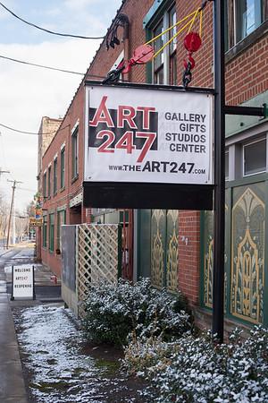 JOED VIERA/STAFF PHOTOGRAPHER- Lockport, NY- Art 247 held its grand opening today.