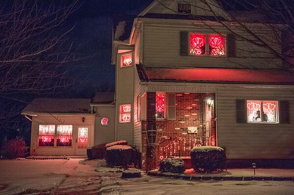 JOED VIERA/STAFF PHOTOGRAPHER-Lockport, NY-Valentines day decorations adorn 142 Elmwood Avenue.