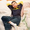 JOED VIERA/STAFF PHOTOGRAPHER- Lockport, NY-Thomas Williams watches television at his home.