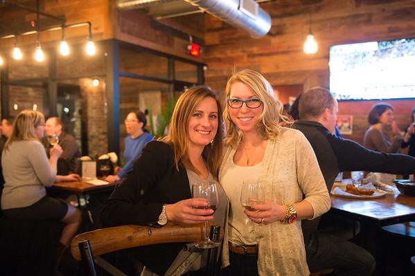 JOED VIERA/STAFF PHOTOGRAPHER- Pendleton, NY- Amanda Janicki and Karen Fizette enjoy on wine at NYBP.