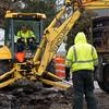 JOED VIERA/STAFF PHOTOGRAPHER- Lockport, NY-A Lockport Water Department crew works on Clinton Street.
