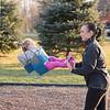 JOED VIERA/STAFF PHOTOGRAPHER- Lockport, NY-Jodi Fera pushes Maggie Fera 1 on the swings at Day Road Park.