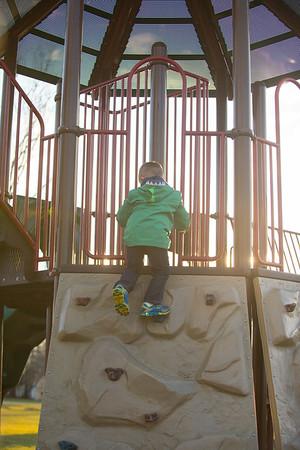JOED VIERA/STAFF PHOTOGRAPHER- Lockport, NY-Barrett Jaworski 5 climbs a wall at Day Road Park.