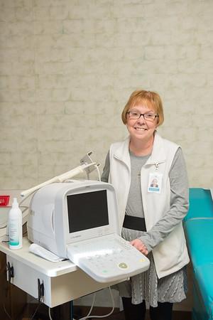 JOED VIERA/STAFF PHOTOGRAPHER- Lockport, NY- Cindra Enzinna stands by Care Net's ultrasound machine.