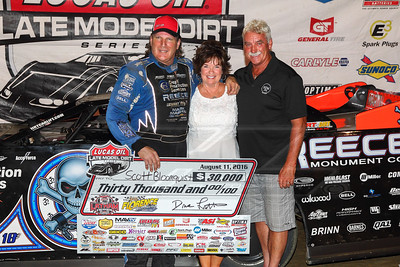 Scott Bloomquist with the Latham family