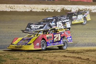 Billy Moyer (21), Darrell Lanigan (15) and Devin Moran (99M)