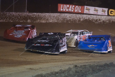 Chris Brown (21), Bobby Pierce (32), Dennis Erb, Jr. (28) and Tim Dohm (6T)