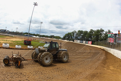Florence Speedway track prep