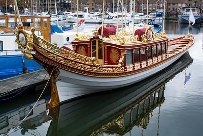 Queen's rowboat.