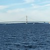 THE GREAT MACKINAC BRIDGE FROM UPPER TO LOWER MICHIGAN 7 MILES