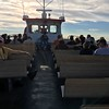 RIDING THE FERRY OVER FROM ST. IGNACE TO MACKINAC ISLAND
