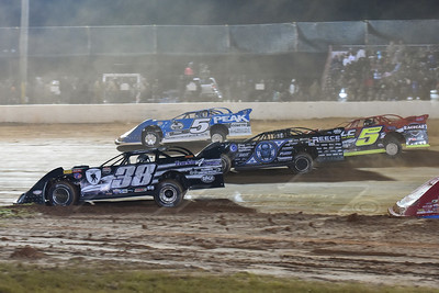 Kenny Pettyjohn (38), Scott Bloomquist (0), Don O'Neal (5) and Mark Whitener (5)