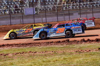 Dennis Erb, Jr. (28), Billy Moyer, Jr. (21JR) and Randy Weaver (116)