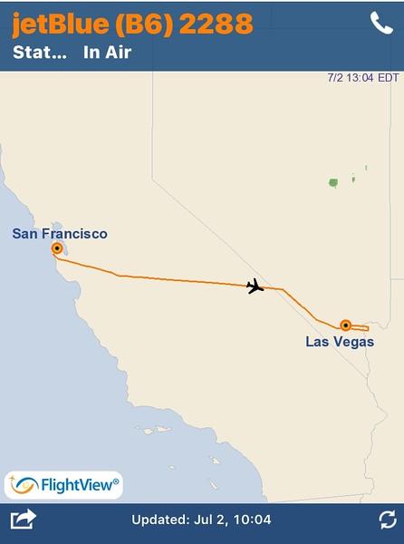 002 SFO to LAS