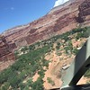 126e Helicopter landing approach in canyon 3 Supai Village