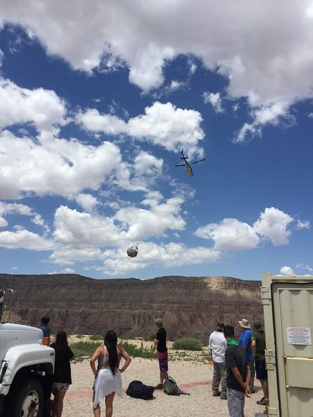 122 Chopper arriving
