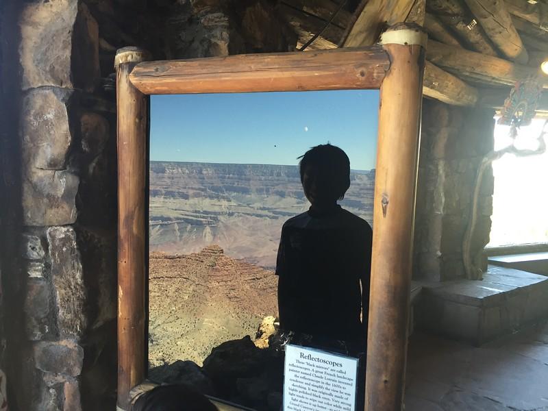 318 Thomas reflecting black mirror