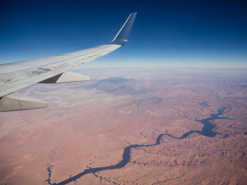 Lake Powell, from the air