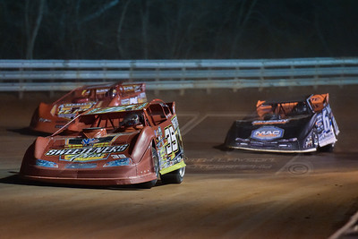Tim McCreadie (39), Jonathan Davenport (6) and Rick Eckert (7E)