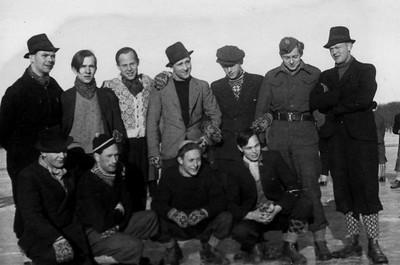 Vintertrening med hatt 1946