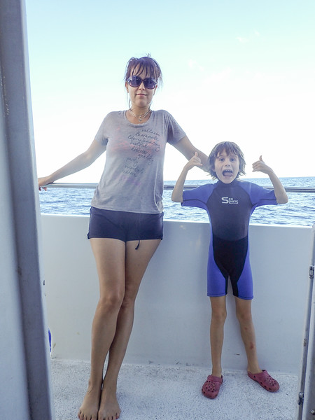On the boat to Molokini for some snorkeling.