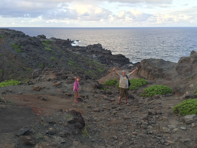 Walking down to the blowhole