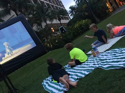 Outdoor movie night - the Nut Job