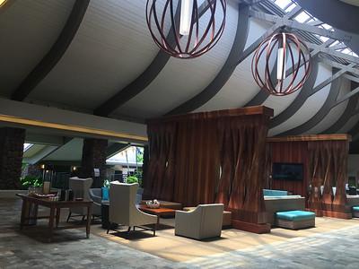 Lobby of Kapaa Hilton on Kauai. Looked like the inside of a ship or something. Really cool!